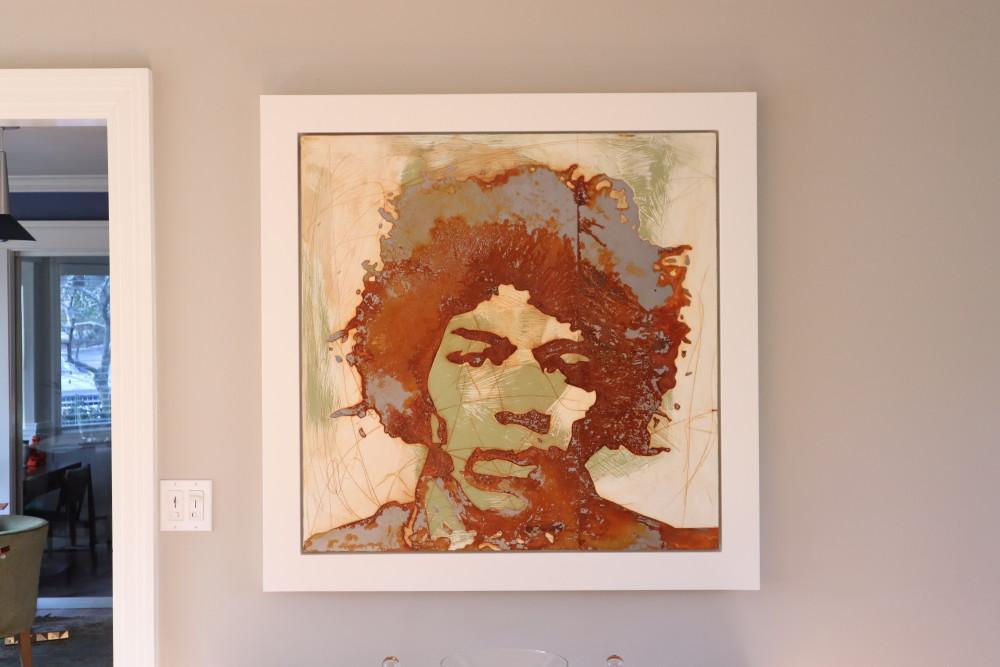 Steel and Rust Jimi Hendrix Painting