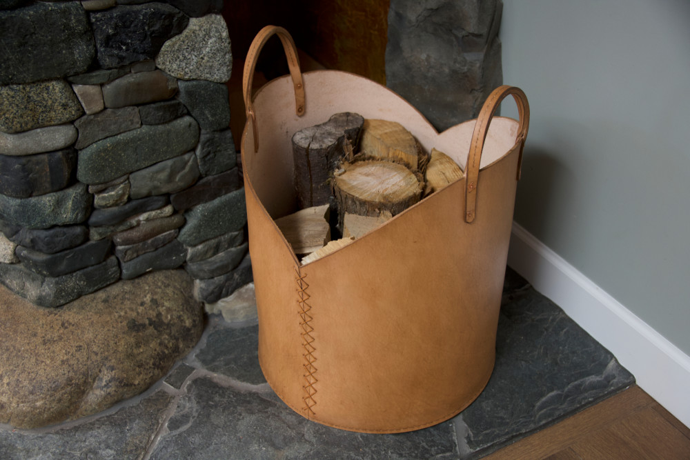 Leather Firewood Basket